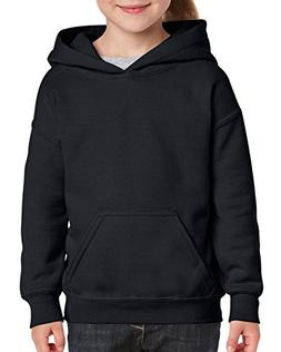 Gildan Little Kids Hooded Youth Sweatshirt, Black, Small
