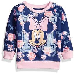 Disney Little Girls' Toddler Minnie Mouse Floral All Over Pr