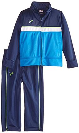 PUMA Little Boys' Toddler Tricot Jacket and Pant Set, Sky Bl