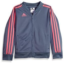 adidas Girls' Little Track Jacket, Raw Steel Adi, 6