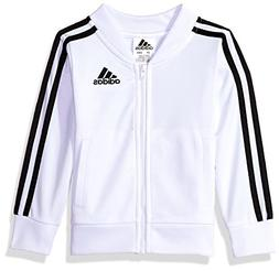 adidas Girls' Little Track Jacket, White, 6X