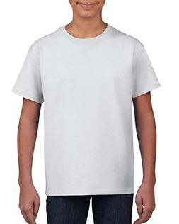 Gildan Little Kids Ultra Cotton Youth T-Shirt, 2-Pack, White