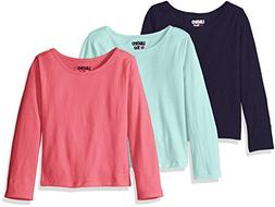 Limited Too Little Girls' 3 Pack: Long Sleeve Tee Shirts, Ho