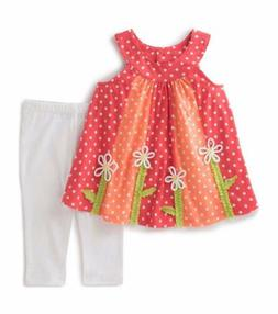 KIDS HEADQUARTERS® Littlle Girl's 6 Floral 2-Pc. Tunic Top