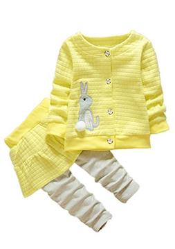 Ancia Kids Clothes Girl Baby Long Sleeve Cotton Clothing Pan