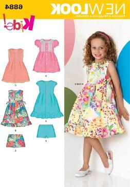 New Look Sewing Pattern 6884 Child Dresses, Size A