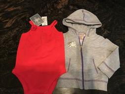 Lot of 2 Little Girl Clothing Juicy Couture Hooded Jacket &