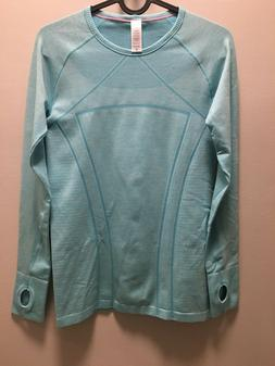 IVIVVA  Girls Fly Tech L/S Tee Shirt Top Thumbholes BLUE -