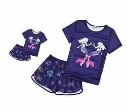 Matching Dolls & Girls Pajamas Unicorn Pjs Set Kids America
