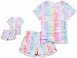 Matching Dolls  Girls Pajamas Unicorn Pjs Set Kids America G