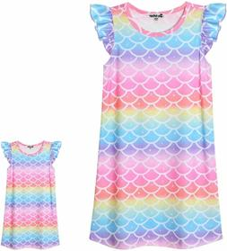 Matching Girls & Dolls Nightgowns Unicorn Clothes Flutter Sl