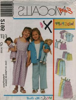 McCall's Girls Clothing Sewing Patterns Sizes Ranging From 2