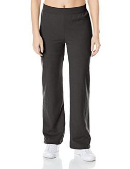Hanes Women's Middle Rise Sweatpant, Ebony, Large