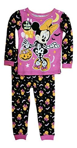 Disney Minnie Mouse Little Girls Toddler Halloween Pajama Se