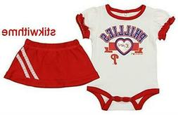 MLB Philadelphia Phillies BABY FAN APPAREL Sports SET: Bodys