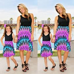 Mother and Daughter Clothes Parent-child Boho Dress Family M