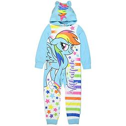 little pony My The Movie One Piece Pajama with Hooded Size 7