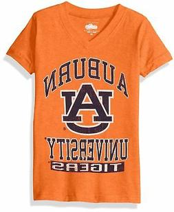 NCAA Auburn Tigers Children Girls V-Neck Short Sleeve Tee,3T