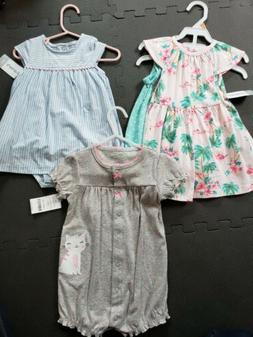 NEW Baby Girls Clothing Lot Size 12 Months NWT, Carter's Dre