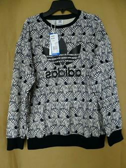 NEW adidas Big Girls Originals Sweatshirt S,L,XL Zebra-Print