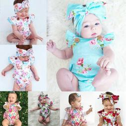 new born infant baby girl clothes jumpsuit