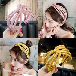 New Fashion Women Girls Colorful Wide Hairband Graceful Soft