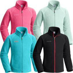 "New Columbia Girls ""Benton Springs"" Full Zip Fleece Jacket S"