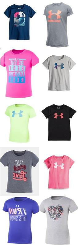 new girls graphic print athletic shirt size