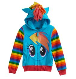 New Girls Kids 3T My Little Pony Rainbow Dash Jacket Zipup H