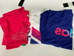 NEW Adidas Girls Short Sleeve Active Tee