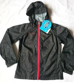 NEW COLUMBIA Girls' Switchback Rain Waterproof Jacket Black
