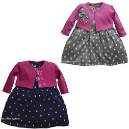 New Infant Newborn baby girls dress cardigan clothing outfit