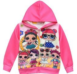 New Lol Girl sweatshirt hoodie  pink clothes size 5 .actual
