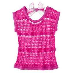 New Hello Kitty Size S Small 6 Crochet Pink Top w/ Scarf NWT
