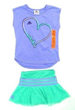 New! Adidas Sport Performance Toddler and Girls 2 Piece Set,