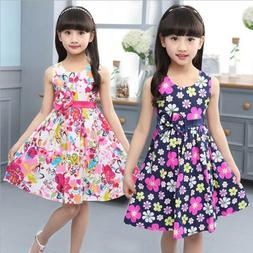 New Summer Floral Girl Dresses Girls Clothes Kids Cotton Dre