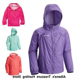 NWT $45 COLUMBIA Girls Slippery Slope Rain Jacket SELECT SIZ