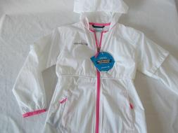 NWT Columbia ATHENA LONG JACKET Wind Water Resistant WHITE /
