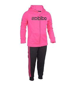NWT!! Adidas Baby Girls' Tricot Zip Jacket and Pant Set Neon