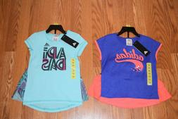 NWT Girls ADIDAS 2 Piece Shirt Skort Set Purple Hot Pink Aqu