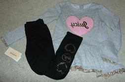 ~NWT Girls JUICY COUTURE Heart Outfit! Size 7 Super Cute $75