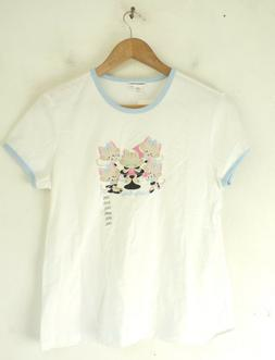 nwt girls top white and blue pretty
