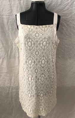NWT Juniors Beautiful Halo Off-White Floral Lace Stretchy Sl