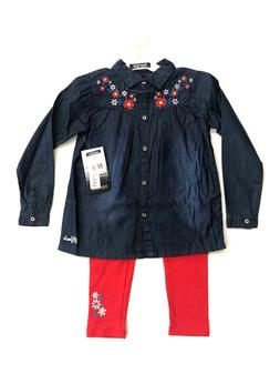 NWT Kensie Girls 2 piece outfit, Leggings and Cotton Denim t