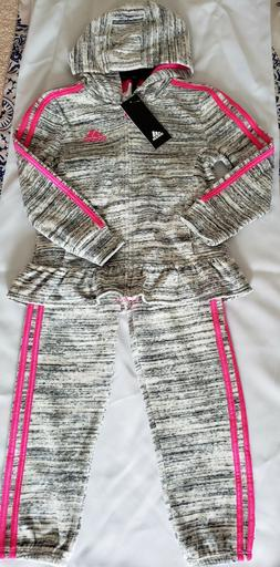 NWT Adidas Kids Girls 2 Piece Set TrackSuit
