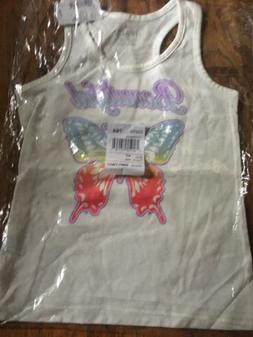 NWT TCP Children's Place Girls Tank Top Sz 7/8 Butterfly B