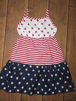 NWT The Children's Place Girls Small 5 6 Stars & Stripes Fou