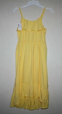 NWT The Children's Place Girl's sz 7 8 Tank Yellow Maxi Lo