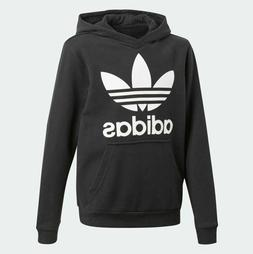 Adidas Originals Big Kids' TREFOIL Hoodie Black/White CD6499