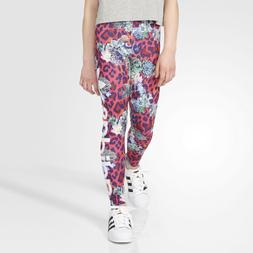 Adidas ORIGINALS GIrls Leggings Pink French Terry Pants Flor